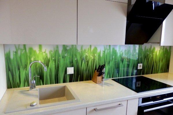 Virtuves sienele stiklas kaina