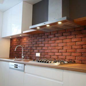 Stilingi, modernūs virtuvės baldai su dažytais fasadais