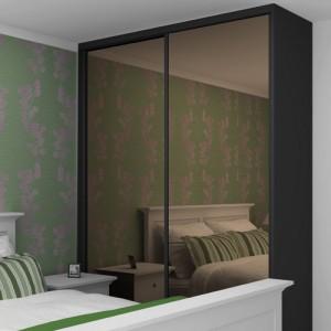 Stumdomos durys su tamsintu bronziniu veidrodžiu