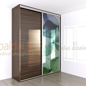 Stumdomos durys. Plokste ir stiklas su nuotrauka 4