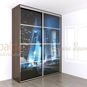Stumdomos durys. Plokste ir stiklas su nuotrauka 7